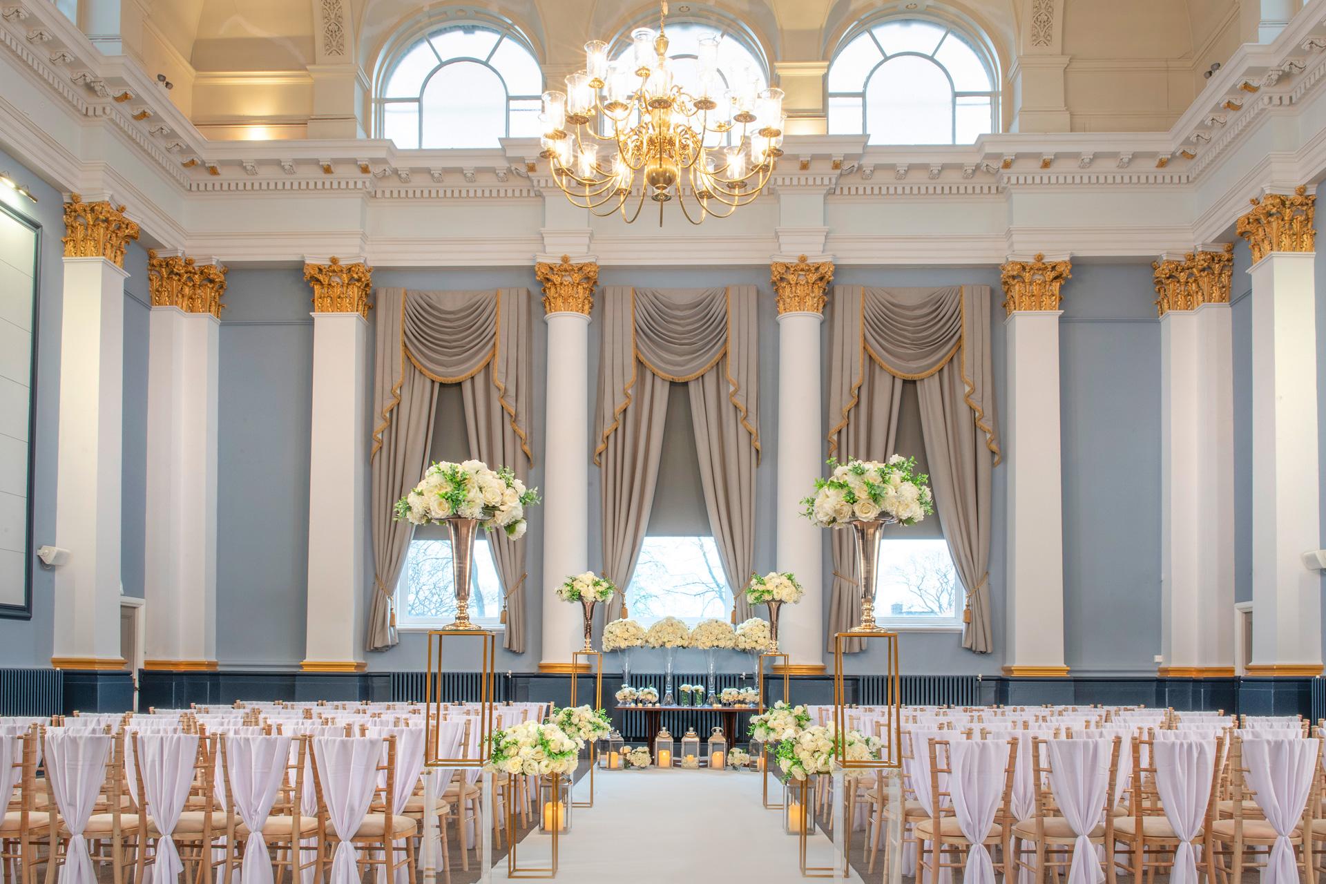 Corn exchange wedding room